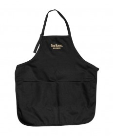 Four Roses Double Pocket Black Kitchen Apron