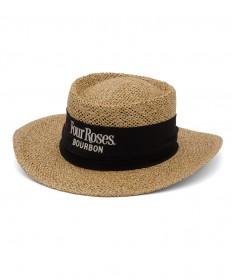 Four Roses Straw Golfer Hat