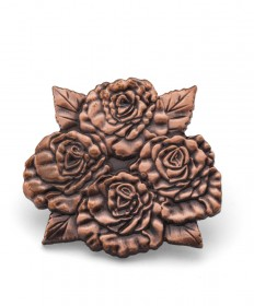 Four Roses Cluster Copper Lapel Pin
