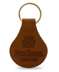 Four Roses Large Leather Key Fob