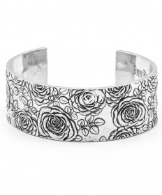 Upcycled Aluminum Rose Imprint Cuff