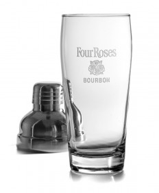 Four Roses Glass Cocktail Shaker