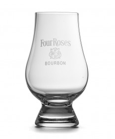 Four Roses Etched Glencairn Glass