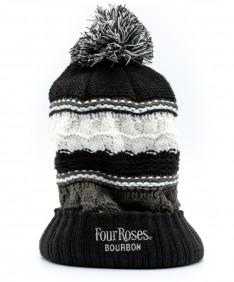 Knit Multi Beanie w/ Pom