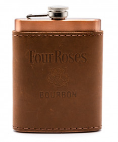 Copper Flask With Leather Wrap