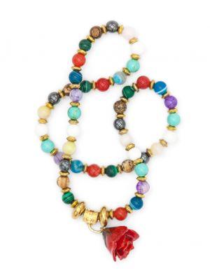 Real Rose Bracelet with gemstones