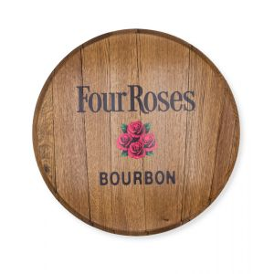 Four Roses Barrel Head with Full Color Logo
