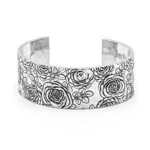 Upcycled Aluminum Rose Imprint Cuff
