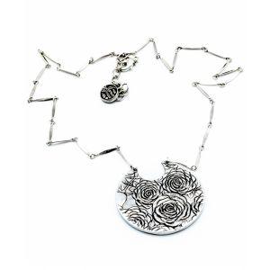 Four Roses Upcycled Aluminum Rose Necklace