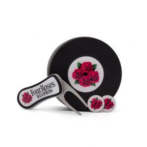 Four Roses Ball Marker & Divot Tool Gift Set
