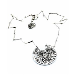 Four Roses Upcycled Aluminum Rose Necklace
