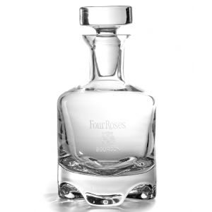 Four Roses Etched New York Decanter