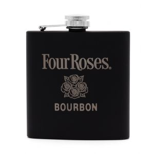 Four Roses Black Flask with Silver logo